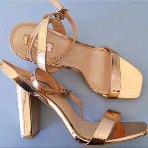 Forever 21 Gold High Heels